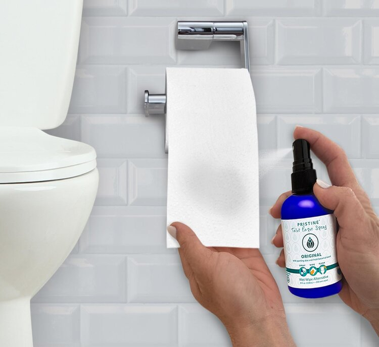 toilet paper spay is a good alternative to a bidet and wet wipes