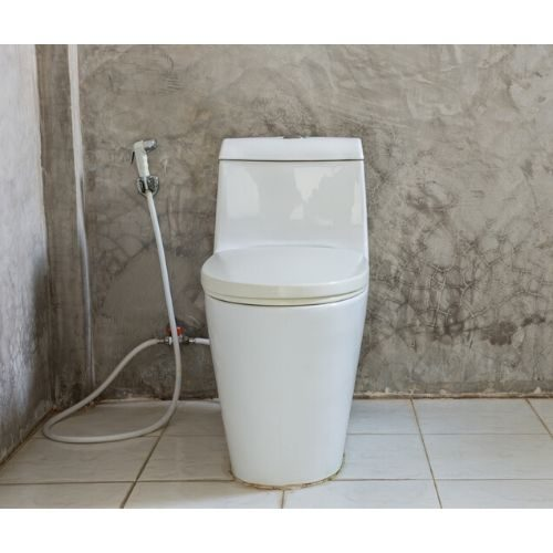 toilet with shattaf